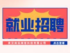 【就业招聘】武汉闲玩网络科技有限公司・武汉新华就业招聘信息